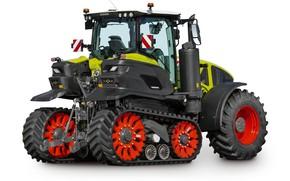 Картинка трактор, белый фон, Claas, Axion 930 Terra Trac