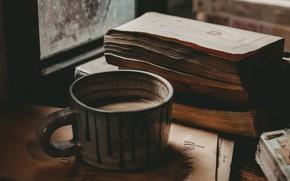 Картинка Coffee, Mood, Window, Books, Foods, Mug, Hot chocolate