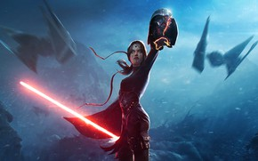 Картинка Star Wars, Голова, Darth Vader, Dark Side, Fantasy, Арт, Ситх, Дарт Вейдер, Фантастика, Rising, Illustration, …