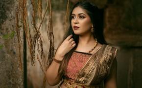 Картинка fashion, model, beauty, pose, indian, makeup