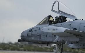 Картинка Фонарь, USAF, Пилот, Штурмовик, A-10C Thunderbolt II, Кокпит