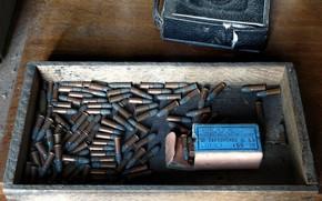 Обои оружие, ящик, патроны