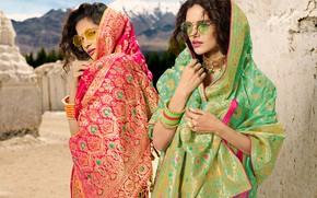Картинка girl, eyes, smile, beautiful, model, lips, face, hair, pose, indian, actress, celebrity, bollywood, saree, sari, …
