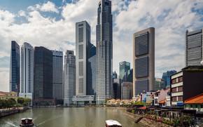 Картинка город, день, Сингапур, небоскрёбы, Singapore, Singapore city