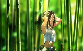 Картинка девушка, бамбук, арт