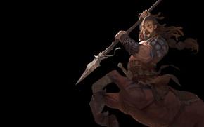 Картинка воин, фэнтези, арт, кентавр, Sagittarius, 王 建喜