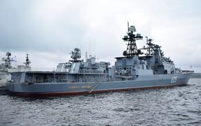 Картинка корабль, большой, вмф, противолодочный, проект 1155, адмирал левченко