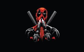 Картинка Минимализм, Design, Minimal, Deadpool, Дэдпул