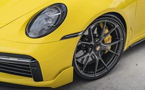 Картинка 911, Porsche, Yellow, Turbo S, VAG, Sight, 992