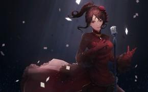Картинка девушка, микрофон, певица, IdolM@ster