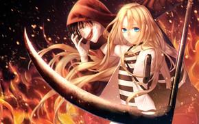 Картинка огонь, Satsuriku no Tenshi, Isaac Foster, Rachel Gardner