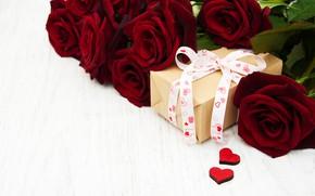 Картинка розы, букет, сердечки, красные, Olena Rudo