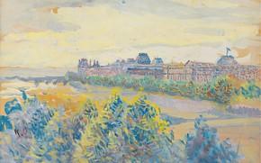 Картинка пейзаж, картина, Максимильен Люс, Maximilien Luce, ЛУВР