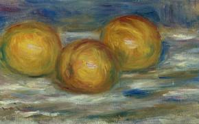 Картинка картина, натюрморт, 1915, Пьер Огюст Ренуар, Pierre Auguste Renoir, Три Лимона