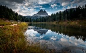 Картинка горы, Италия, речка, Доломиты