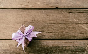 Картинка день рождения, box, wood, gift, ribbon