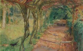 Картинка пейзаж, картина, 1901, Под Беседкой, Max Slevogt, Макс Слефогт