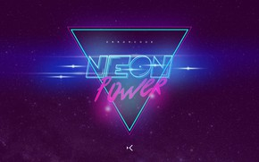 Картинка Музыка, Фон, Power, Neon, Synth, Retrowave, Synthwave, New Retro Wave, Futuresynth, Синтвейв, Ретровейв, Outrun, Neon …
