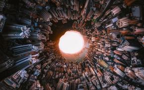 Картинка свет, шар, дома, круг, Китай, сфера, Hong Kong, 43 фото в одном