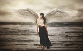 Обои девушка, ангел, Marya