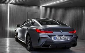 Картинка свет, купе, BMW, Gran Coupe, задом, 8-Series, 2019, четырёхдверное купе, 8er, G16