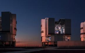 Картинка Observatory, Chili, Cerro Paranal, ESO Very Large Telescope (VLT), Panoramic Picture