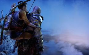Картинка God of war, kratos, Atreus