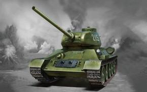 Картинка СССР, Т-34, РККА, Т-34/85, 85-мм, Основной танк, C орудием, Самый массовый танк