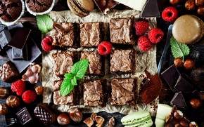 Картинка конфеты, ягоды, Natalia Klenova, пирог, шоколадный