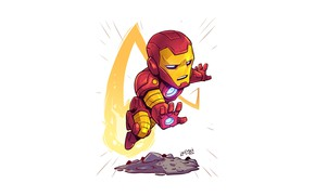 Картинка armor, Iron Man, Marvel, pose, Derek Laufman