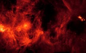 Картинка пыль, газ, молекулярное облако Персей, NGC 1333, Perseus Molecular Cloud, IC 348, области звёздообразования