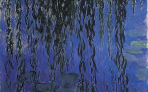 Картинка Claude Monet, Water-Lilies, and Weeping Willow Branches