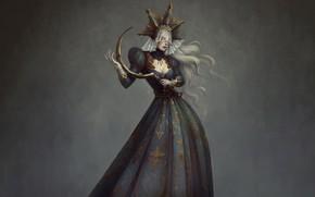 Картинка Dark, Платье, Смерть, Fantasy, Art, Женщина, Ужасы, Death, Evil, Woman, Horror, Зло, Illustration, Жнец, Dress, …
