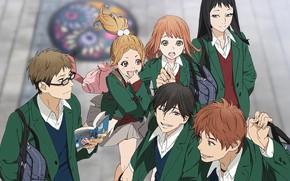Картинка девушки, аниме, арт, Orange, парни