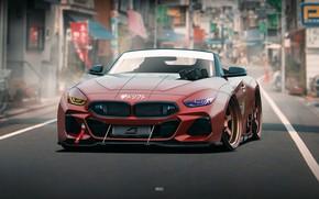 Картинка Авто, BMW, Машина, Арт, Concept Art, Передок, BMW Z4, Transport & Vehicles, by JREEL, JREEL, …