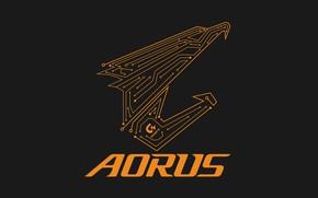 Картинка logo, eagle, gigabyte, aorus