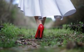 Картинка девушка, Red, туфелька