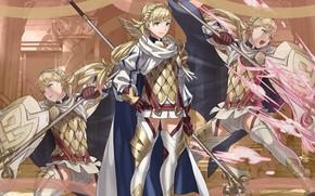 Картинка меч, девочка, щит, Heroes, рыцарь, Fire Emblem