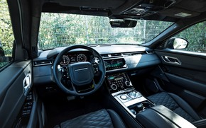 Картинка чёрный, интерьер, Land Rover, Range Rover, SUV, Manhart, 2020, Velar, SV 600