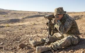 Картинка military, firearms, binoculars, surveillance