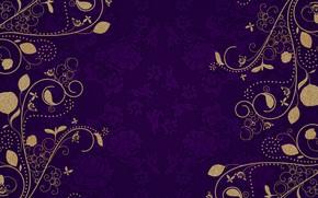 Картинка золото, узор, текстура, пурпурный, винтаж