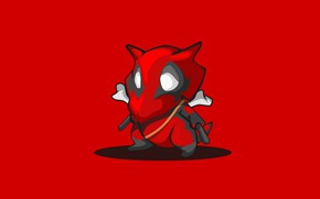 Картинка красный, фон, минимализм, Покемон, Pokemon