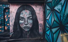 Картинка Girl, City, Grafitti
