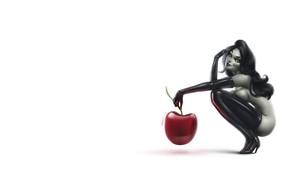 Картинка Девушка, Минимализм, Рисунок, Вишня, Латекс, Playboy, Арт, Черешня, Ягода, by Felipe Kimio, Felipe Kimio, Playboy …