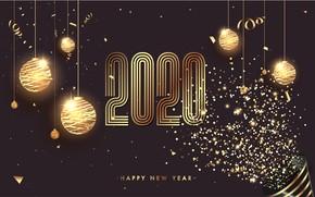 Картинка праздник, шары, новый год, открытка, celebration, 2020, happy-new-year