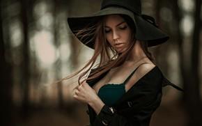 Картинка волосы, Девушка, шляпа, Анастасия, Востриков Сергей