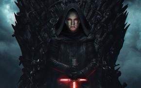 Картинка меч, Star Wars, Звёздные Войны, трон