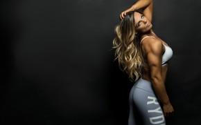 Картинка model, blonde, fitness, Mask Haslett