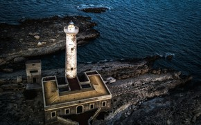 Картинка море, маяк, Italy, Sicily, Augusta