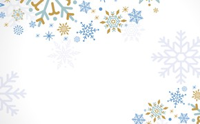 Картинка белый, снежинки, фон, design, background